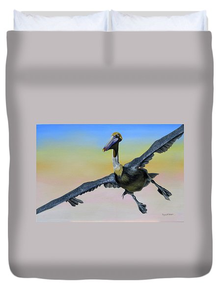 Graceful Landing Duvet Cover by Phyllis Beiser