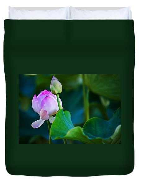 Graceful Lotus. Pamplemousses Botanical Garden. Mauritius Duvet Cover