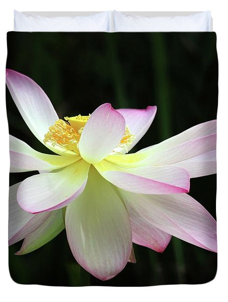Graceful Lotus Duvet Cover