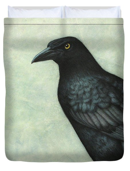 Duvet Cover featuring the painting Grackle by James W Johnson