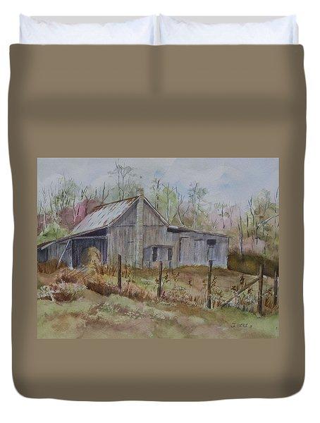 Grady's Barn Duvet Cover by Janet Felts