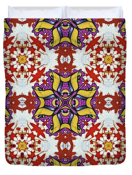 Graffito Kaleidoscope 40 Duvet Cover