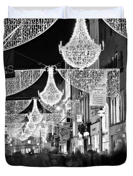 Grafton Street At Christmas / Dublin Duvet Cover