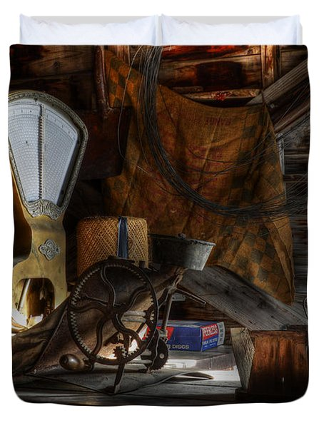 Grain Elevator Duvet Cover by Bob Christopher