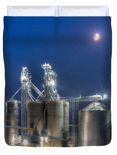 Grain Processing Plant Duvet Cover