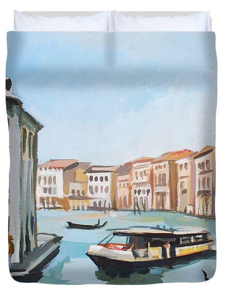 Grand Canal 2 Duvet Cover by Filip Mihail