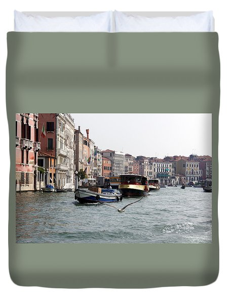 Grand Canal Duvet Cover by Debi Demetrion