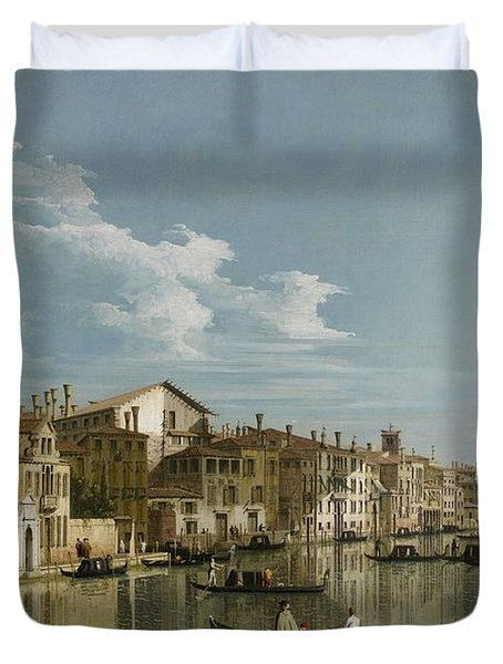 Grand Canal From Palazzo Flangini To Palazzo Bembo Duvet Cover by Canaletto