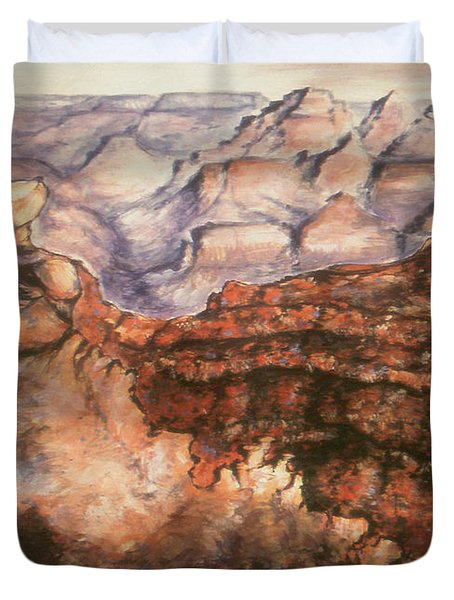 Grand Canyon Arizona - Landscape Art Painting Duvet Cover