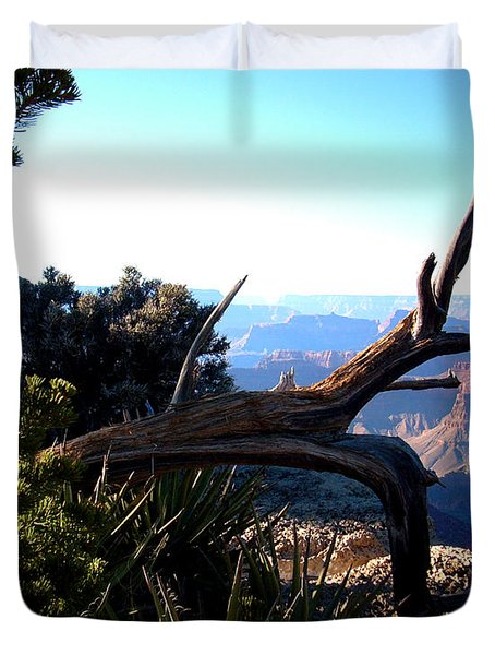 Duvet Cover featuring the photograph Grand Canyon Dead Tree by Matt Harang