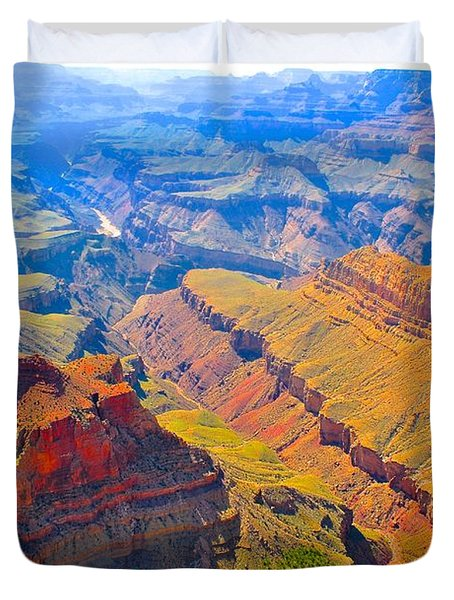Grand Canyon In Vivid Color Duvet Cover by Jim Hogg