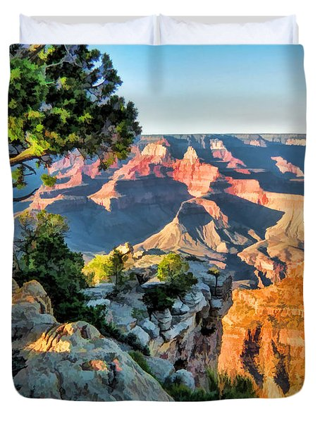 Grand Canyon Ledge Duvet Cover by Christopher Arndt