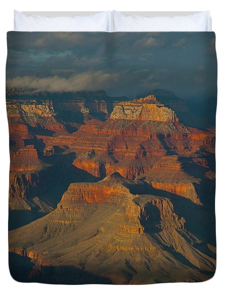 Duvet Cover featuring the photograph Grand Canyon by Rod Wiens