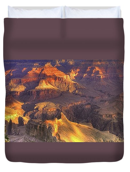 Grand Canyon - Sunrise Adagio - 1b Duvet Cover by Michael Mazaika