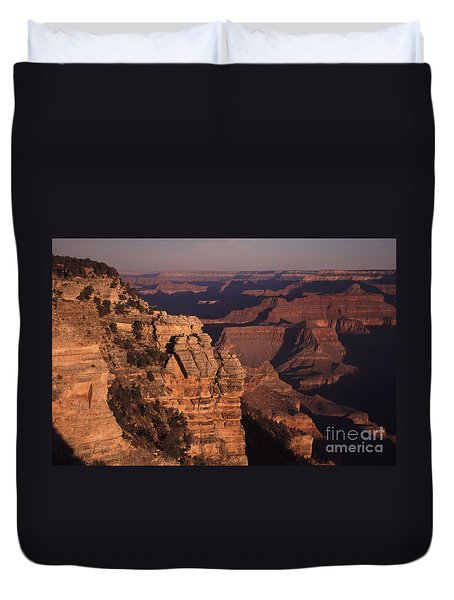 Duvet Cover featuring the photograph Grand Canyon Sunrise by Liz Leyden