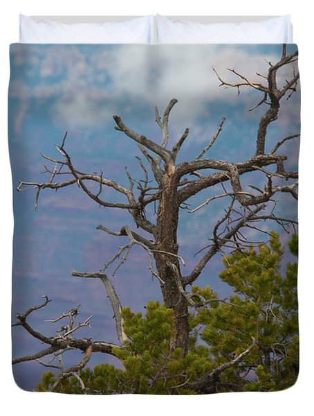 Duvet Cover featuring the photograph Grand Canyon Tree by Rod Wiens