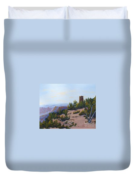 Grand Canyon Watchtower Duvet Cover