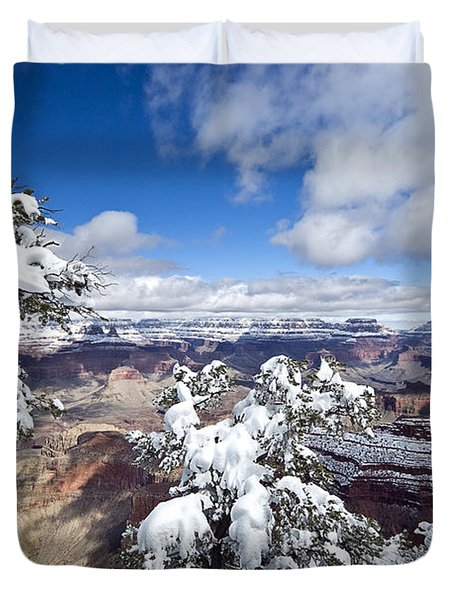 Grand Canyon Winter - 1 Duvet Cover