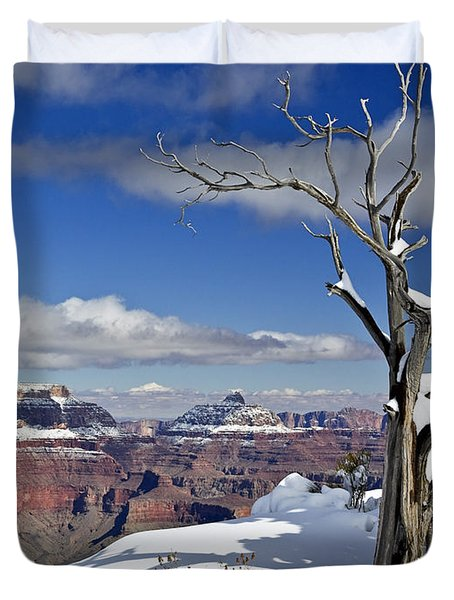Grand Canyon Winter -2 Duvet Cover
