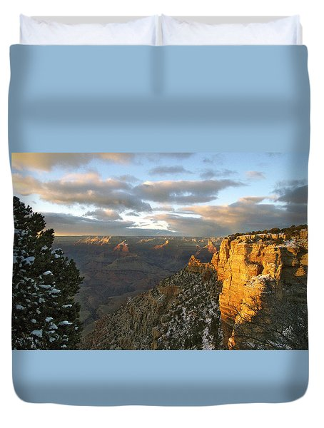 Grand Canyon. Winter Sunset Duvet Cover