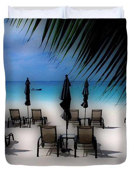 Grand Cayman Dreamscape Duvet Cover