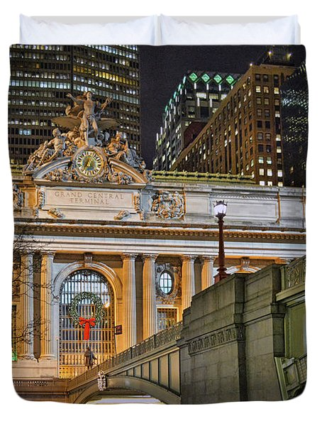 Grand Central Nocturnal Duvet Cover by Jeffrey Friedkin