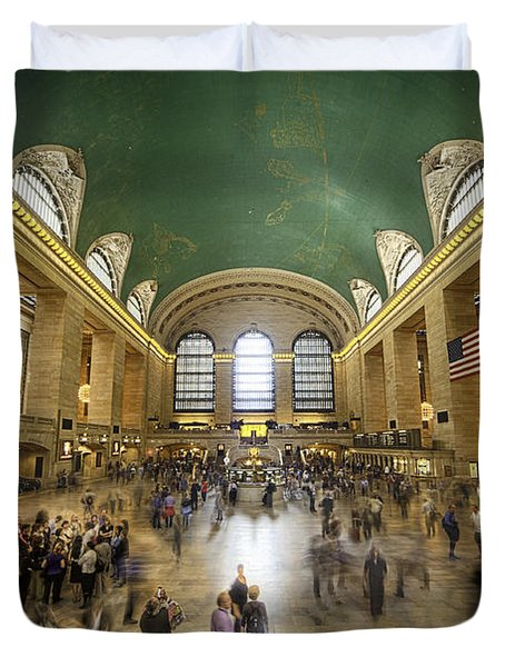 Grand Central Rush Duvet Cover