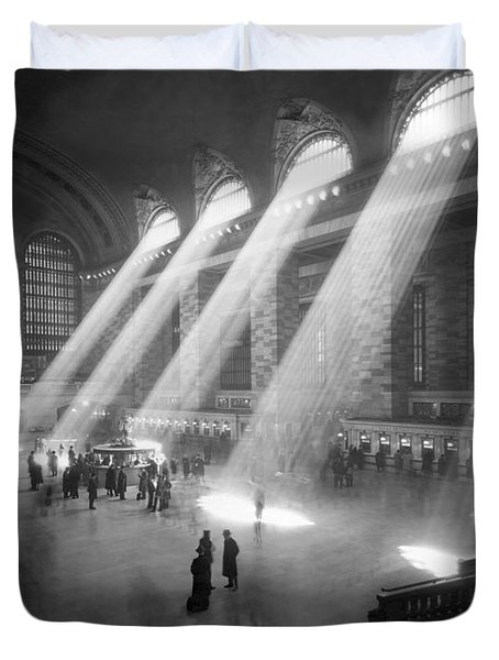 Grand Central Station Sunbeams Duvet Cover