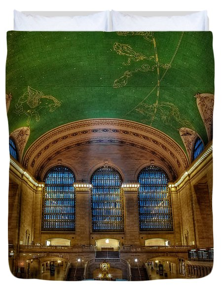 Duvet Cover featuring the photograph Grand Central Station by Susan Candelario