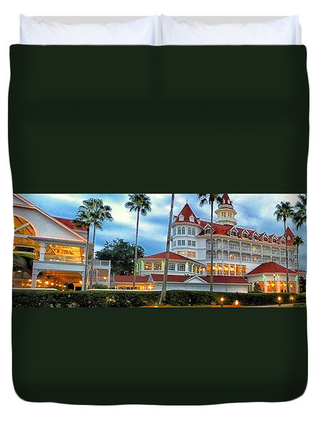 Grand Floridian Resort Walt Disney World Duvet Cover by Thomas Woolworth