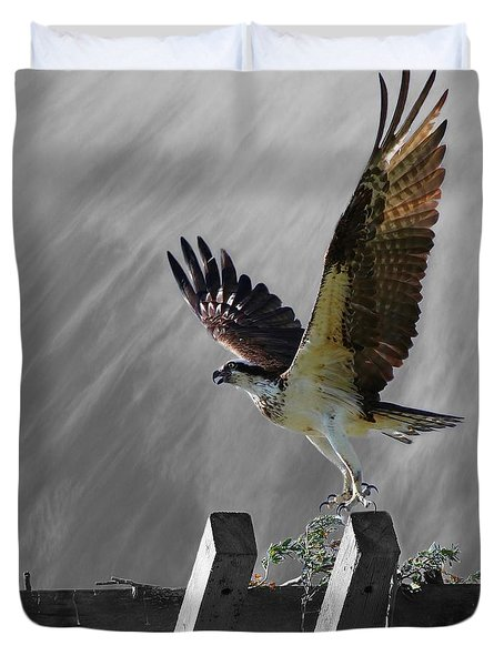 Grand Ole Osprey Duvet Cover by Davandra Cribbie