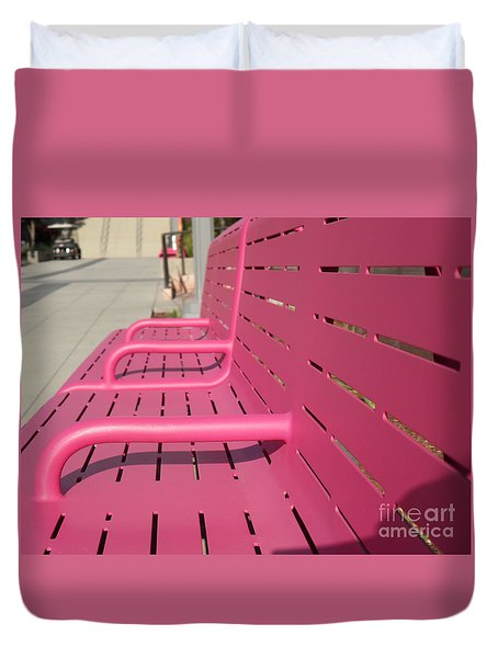 Grand Park Pink Duvet Cover by HEVi FineArt