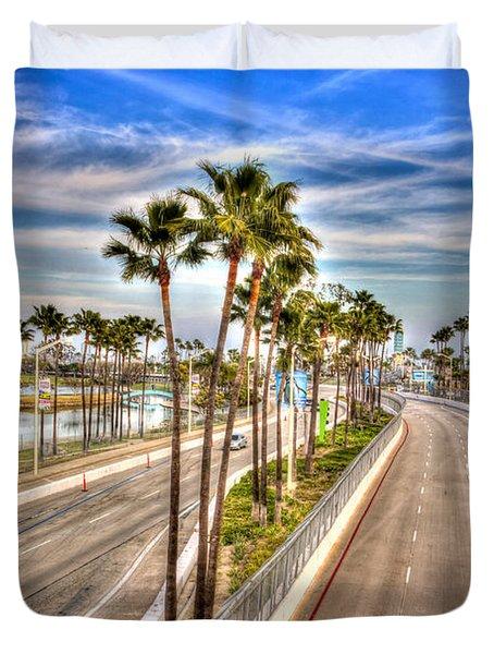 Grand Prix Of Long Beach Duvet Cover by Heidi Smith