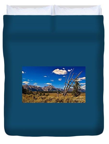 Grand Tenton Overlook Duvet Cover by Robert Bales
