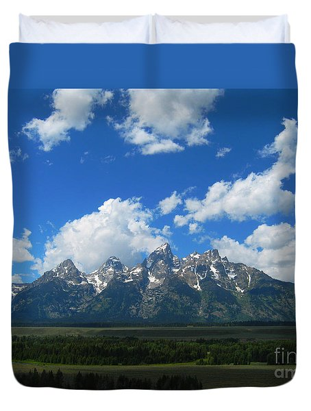 Grand Teton National Park Duvet Cover by Janice Westerberg