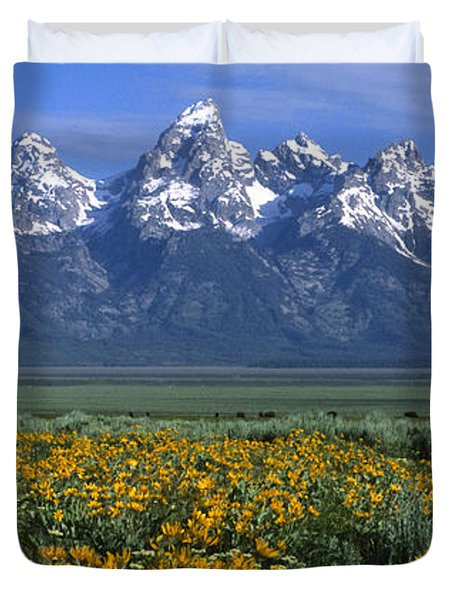 Grand Teton Summer Duvet Cover