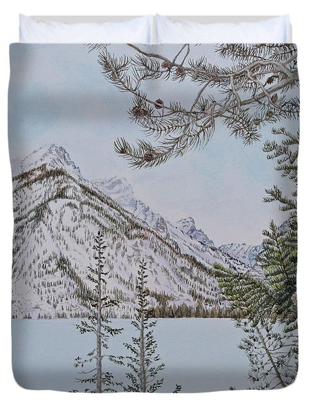 Grand Teton View Duvet Cover
