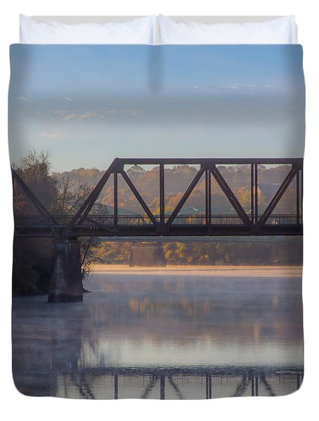 Grand Trunk Railroad Bridge Duvet Cover