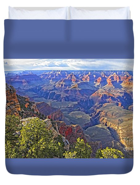 Grand View Canyon Duvet Cover by Jason Abando