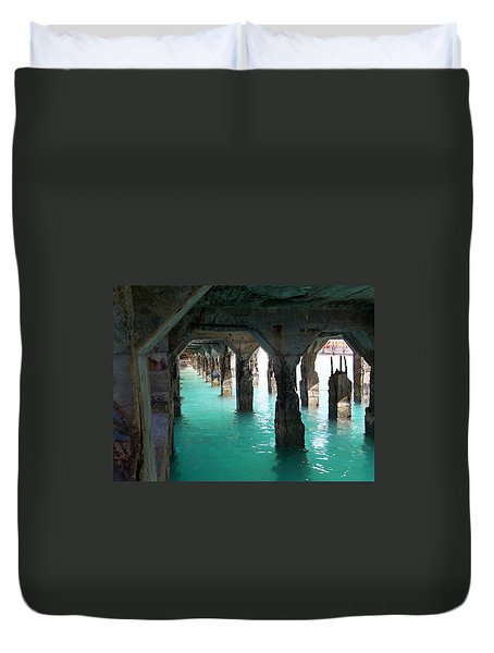 Grande Casse Pier Duvet Cover by David and Lynn Keller