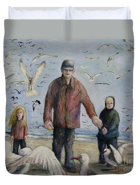 Grandfather Brother And Sister Duvet Cover