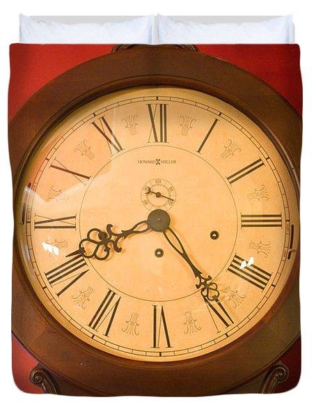Grandfather Clock Top 1 Duvet Cover by Douglas Barnett