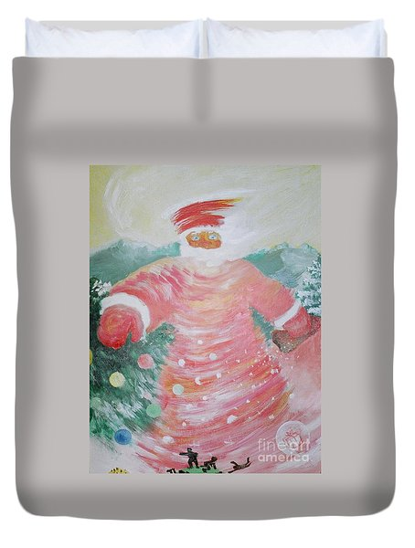 Grandfather Frost Duvet Cover