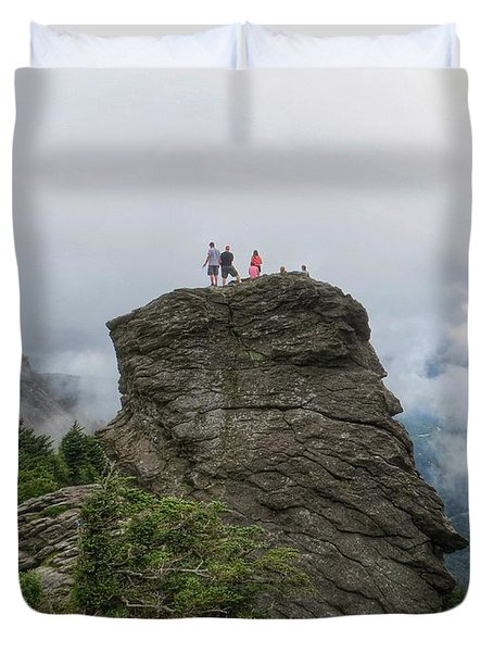 Grandfather Mountain Hikers Duvet Cover