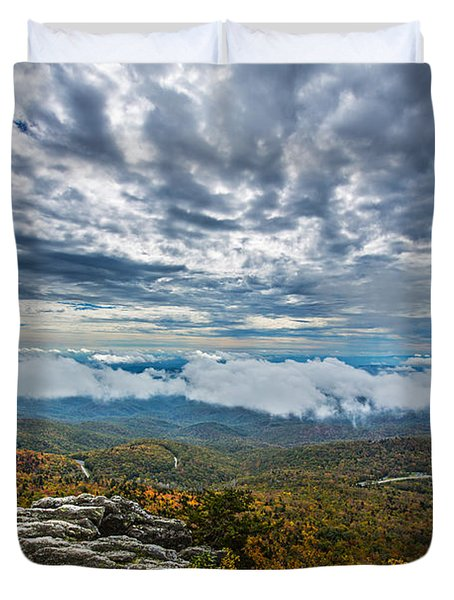 Grandfather Mountain Duvet Cover by John Haldane