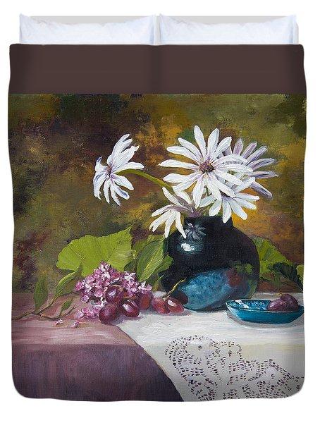 Grandma's Daisies Duvet Cover