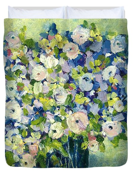 Grandma's Flowers Duvet Cover by Sherry Harradence