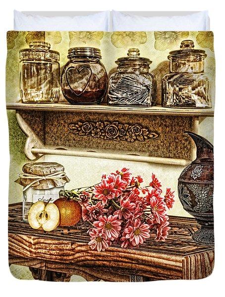 Grandma's Kitchen Duvet Cover by Mo T