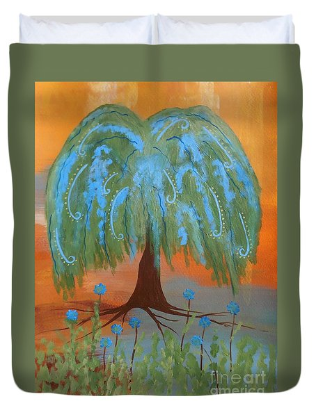 Grandmother Willow Tree Duvet Cover