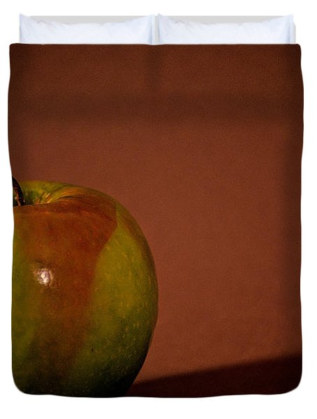 Duvet Cover featuring the photograph Granny Smith by Sharon Elliott